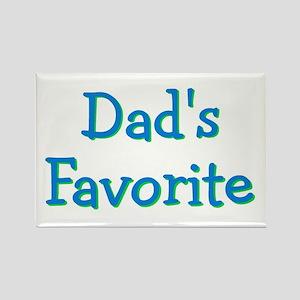 Dad's Favorite (Blue) Rectangle Magnet