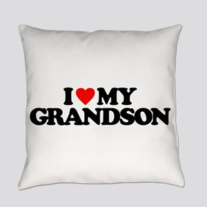 I LOVE MY GRANDSON Everyday Pillow