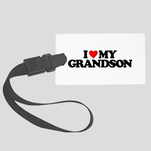 I LOVE MY GRANDSON Large Luggage Tag