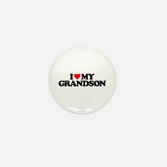 I LOVE MY GRANDSON Mini Button