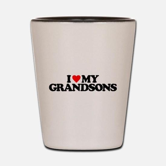 I LOVE MY GRANDSONS Shot Glass