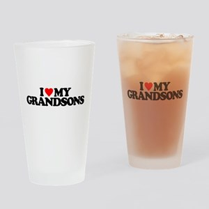 I LOVE MY GRANDSONS Drinking Glass