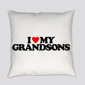 I LOVE MY GRANDSONS Everyday Pillow