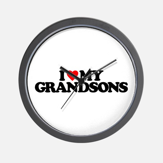 I LOVE MY GRANDSONS Wall Clock