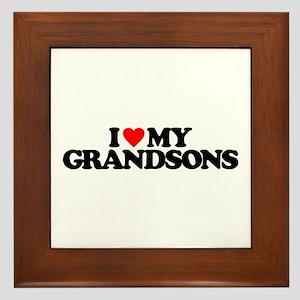 I LOVE MY GRANDSONS Framed Tile