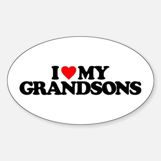 I LOVE MY GRANDSONS Sticker (Oval)