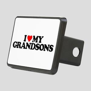 I LOVE MY GRANDSONS Rectangular Hitch Cover