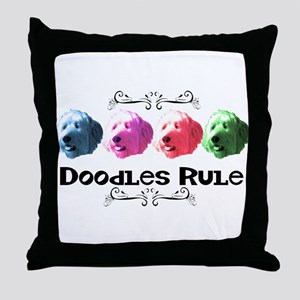 New Doodles Rule! Throw Pillow