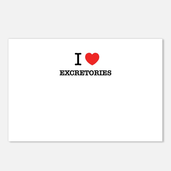 I Love EXCRETORIES Postcards (Package of 8)