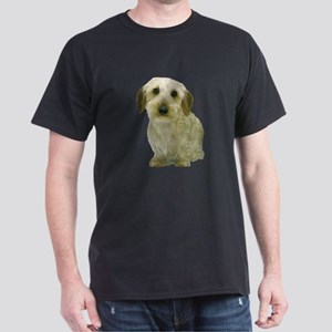 White Wire Haired Dachshund Dark T-Shirt