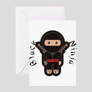 Black Ninja Greeting Cards
