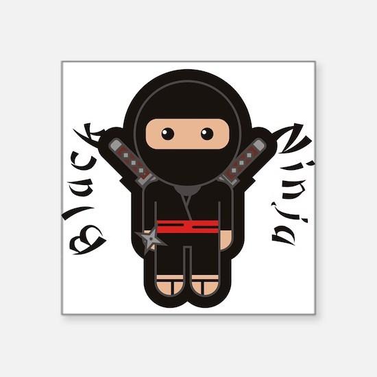 Black Ninja Sticker