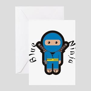 Blue Ninja Greeting Cards
