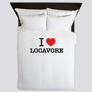 I Love LOCAVORE Queen Duvet