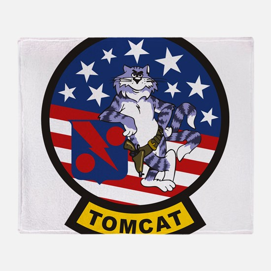 Tomcat Throw Blanket