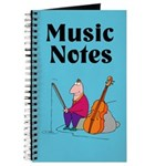 Funny Cello Music Notes Practice Journal
