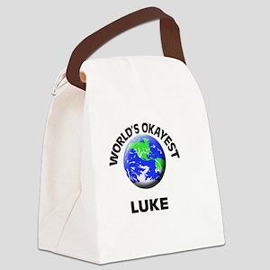 World's Okayest Luke Canvas Lunch Bag