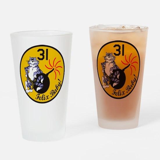 Tomcat Drinking Glass