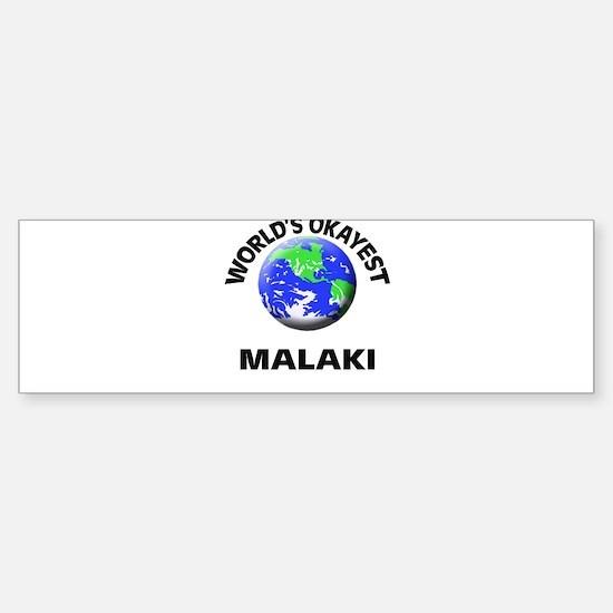 World's Okayest Malaki Bumper Car Car Sticker