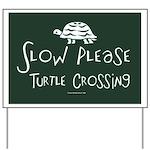 Turtle Crossing Yard Sign