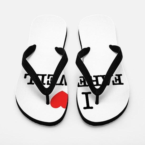 I Love FAREWELL Flip Flops