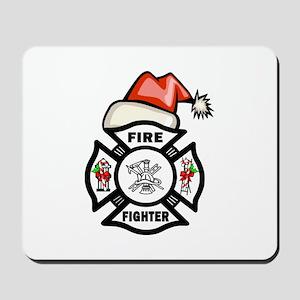 Firefighter Santa Mousepad