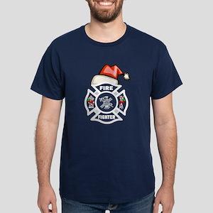 Firefighter Santa Dark T-Shirt