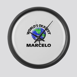 World's Okayest Marcelo Large Wall Clock