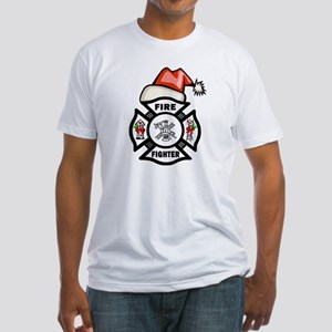 Firefighter Santa Fitted T-Shirt