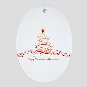Wonder of the Season Oval Ornament