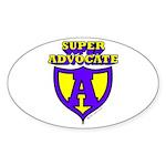 Super Advocate Oval Sticker