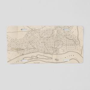 Vintage Map of St. Paul Min Aluminum License Plate