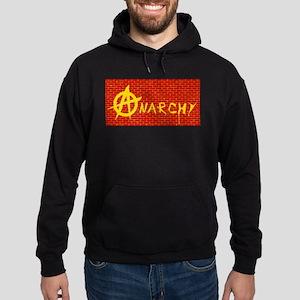 Anarchy Red Brick Wall Hoodie (dark)