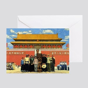 Tiki in Tiananmen Greeting Card