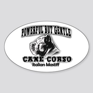 Powerful corso Oval Sticker