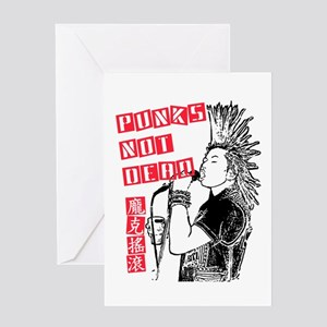 Punks Not Dead Greeting Card