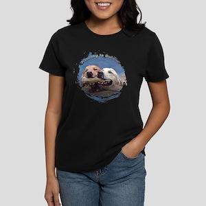 Golden Retriever - Sharing is Women's Dark T-Shirt