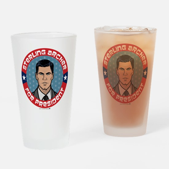 Archer Sterling Archer for Presiden Drinking Glass