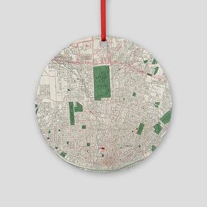Vintage Map of St. Louis Missouri ( Round Ornament