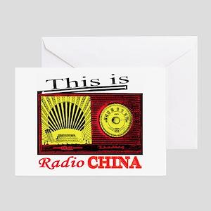 Radio China Greeting Card