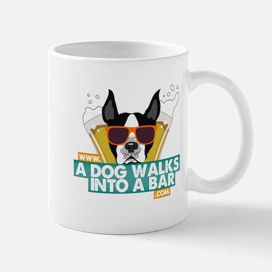 A Dog Walks into a Bar Color Logo Mugs