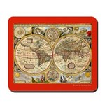 Dual Hemisphere Renaissance Map Mousepad