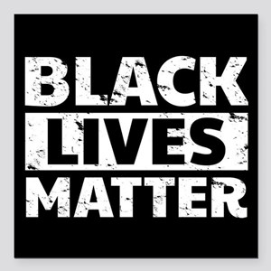 "Black Lives Matter Square Car Magnet 3"" x 3"""