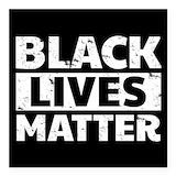 Black lives matter Square Car Magnets
