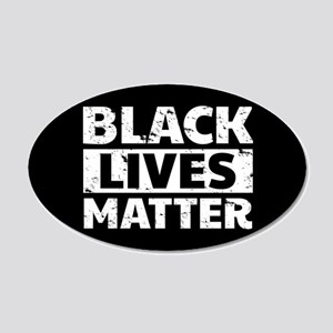 Black Lives Matter 20x12 Oval Wall Decal
