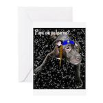 Yentle Dog Chanukah Cards (Pk of 10)
