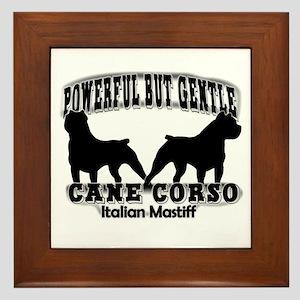 Powerful Cane Corso Framed Tile