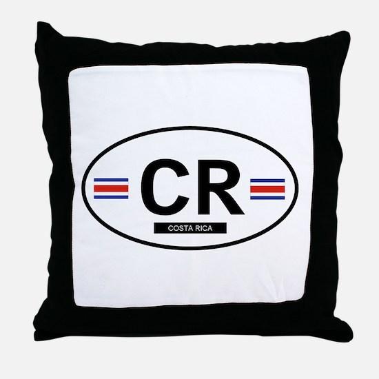 Costa Rica 2F Throw Pillow