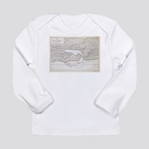 Vintage Map of St. Augustine F Long Sleeve T-Shirt