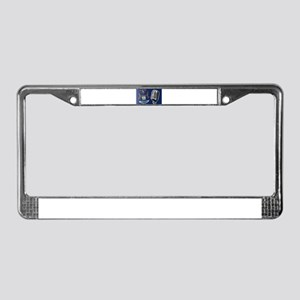 Michigan Flag And Microphone License Plate Frame
